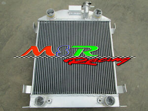3 Row Aluminum Radiator Fits For Ford Model A W Flathead Engine 1928 1929 28 29