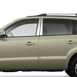 Pillar Post Covers For 2004 2009 Hyundai Tucson Stainless Steel 4pc