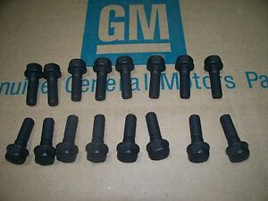 Big Block Exhaust Manifold Bolts 68 75 Chevy Chevelle Camaro Nova 396 454 69