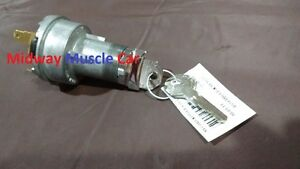 Ignition Switch Lock Cylinder W Key 57 Chevy 150 210 Bel Air 58 59 Corvette