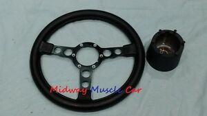 New Formula Steering Wheel Black Spokes Collar 70 81 Pontiac Firebird Trans Am