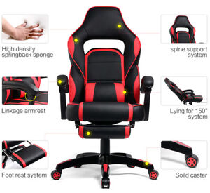 Gtracing High Back Gaming Chair Executive Chair Adjustable Recline Office Chair