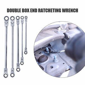 Extra Long Ratcheting Wrench Metric Universal Spline Xl Flexible Head 5pc