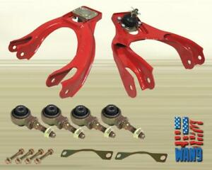Red Front Upper Control A arm Camber bushing Kit Honda Civic Delsol Eg Ej Ej1 Si
