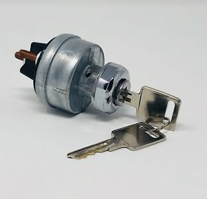 Universal Ignition Switch 12 volt 2 gm Style Keys 4 Position On Off Start Acc