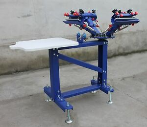 4 Color Screen Printing Machine Vertical Press Adjustable Shirt Print Equipment