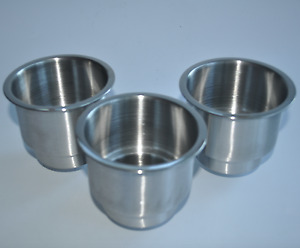 7pcs Stainless Steel Flat Cup Drink Holder Marine Boat Rv Camper