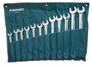 Signet Tools 12 Piece Large Combination Spanner Set Metric 21 34mm S30720
