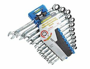 Signet Tools 12 Piece Extra Long Ratchet Spanner Set Metric 8 19mm S38357