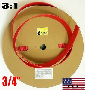 5 Feet 3 4 Dual Wall Red Heat Shrink Tubing 3 1 Adhesive Glue Lined Tubes