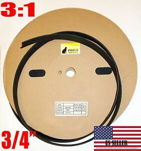 15 Feet 3 4 Dual Wall Black Heat Shrink Tubing 3 1 Adhesive Glue Lined Tubes