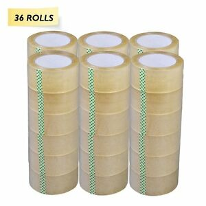 36 Rolls Carton Sealing Clear Packing shipping box Tape 1 8 Mil 2 X 110 Yards