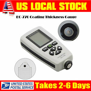 Ec 770 Handheld Thickness Meter Paint Coating Tester Probe Gauge Tool 1300um Lcd