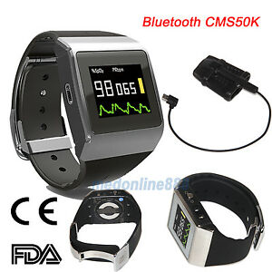 Bluetooth Oled Wrist Pulse Oximeter Spo2 ecg Pedometer Monitor 24 Hours Record