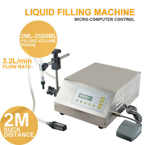 Digital Control Automatic Pump Drink Wine Water Liquid Filling Machine 5 3500ml