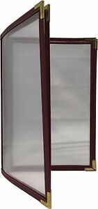 25 Cafe Menu Covers 4 Panel 8 Views 8 5 X 5 5 In Burgundy cds 400bgsb