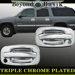 1999 2006 Chevy Silverado Std Ext Cab Chrome Door Handle Covers 2dr W Ps Keyhole