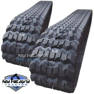 New Z bar Rubber Tracks Set Of Two For Case 450ct 450x86x55 17 7 Zig Zag