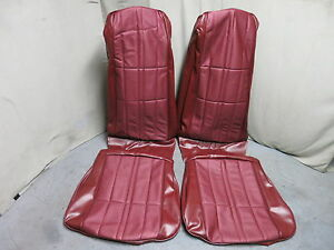 1971 Mustang Deluxe Convertible Bucket Seat Upholstery Reproduction Maroon