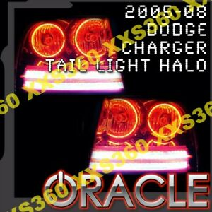 Oracle Dodge Charger 2005 2008 Red Led Smd Tail Light Halo Rings Halo Kit