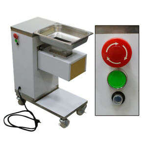 Stainless Commercial Meat Slicer Meat Cutting Machine Safety Cutter 110v us Plug