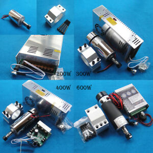 200w 300w 400w 600w Cnc Air Cooled Engraver Spindle Motor Dc12v 48v 12000r Er11