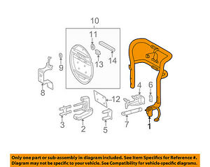 Mercedes Oem 02 05 Ml500 Spare Tire carrier Assembly 1638900010