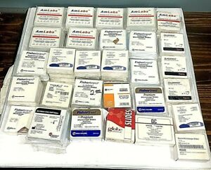 Huge Lot Of Microscope Slides amlabs Patterson Veterinary Fisherbrand Thermo