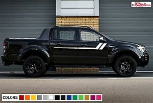 Decal Sticker Side Hockey Stripes For Ford Ranger T6 Off road Lift Body Kit Px