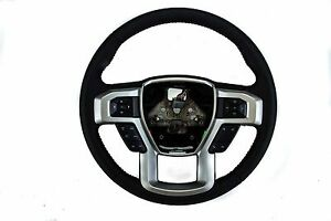 Oem New 2017 Ford Truck F 150 Black Leather Steering Wheel Assembly Hl3z3600fc