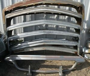 X Thunderbird Front New Triple Chrome Plated Bumper 58 60 1958 1960 Ford Oem