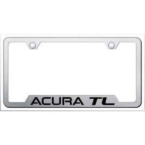 Acura Tl On Brushed Cut out License Plate Frame Officially Licensed