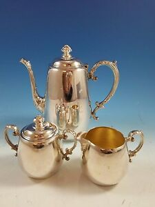 Vintage Wm Rogers Silverplate Tea Set 3 Piece