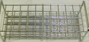 Stainless Steel Wire Frame Test Tube Rack 50 Tubes 22 Mm Autoclavable Lab Stand