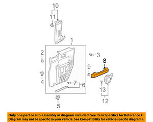 Honda Oem 09 11 Element Interior rear Door armrest Left 83783scva01zf