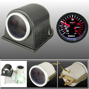Universal 2 52mm Led Turbo Boost Gauge Meter Pointer Psi Pod Cup Smoke Lens