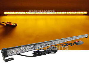 48 Led 47 Emergency Traffic Advisor Truck Flash Strobe Light Bar Warning Amber