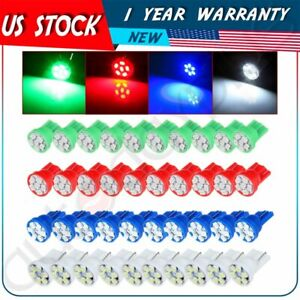 40pcs T10 194 168 Blue Red White Green 6 Led Bulb Instruemnt Dash Cluster Light