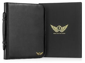 Leather Portfolio Padfolio Organizer Executive Professional Binder Business Note