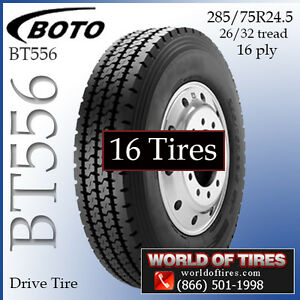 Commercial Truck Tires 285 75r24 5 Boto Bt556 Set Of 16 299 Each Free Shipping