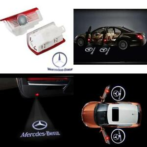 2 Pcs Led Logo Projector For Mercedes Benz Courtesy Lamp Door Step Welcome Light