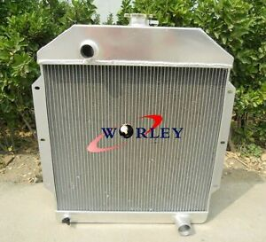 3 Row For 1949 1953 Ford V8 Cars Aluminum Radiator 1949 1950 1951 1952 1953