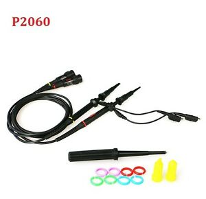 P2060 Oscilloscop Probe Bnc Protective Cap Scope Clip Probe X1 x10 Dc 60mhz 2pcs