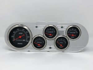 1963 1964 1965 Chevy Nova 5 Gauge Dash Cluster Black