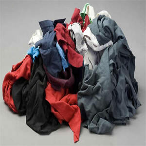 Color Knit T shirt Wiping Rags Cleaning Cloth 25 Lb Box Best Quality