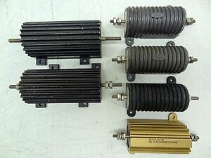 Lot Of 5 Assorted Dale Pacific Power Resistors 75w 100w 250w