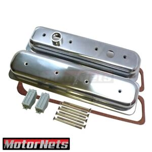 Small Block Chevy Center Bolt Valve Cover Lt 1 Polish Aluminum Sbc Camaro Impala