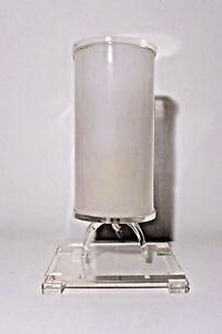 Lucite Accent Lamp Frosted Lucite Shade Hollywood Regency Bedside Table Vintage
