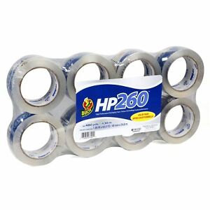 Duck Brand Hp260 High Performance 3 1 Mil Packaging Tape Crystal Clear 8 Pack