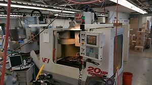Used Haas Vf 1 Vertical Mill Machining Center 20x16 Vmc Gear Box P cool 4th 2000